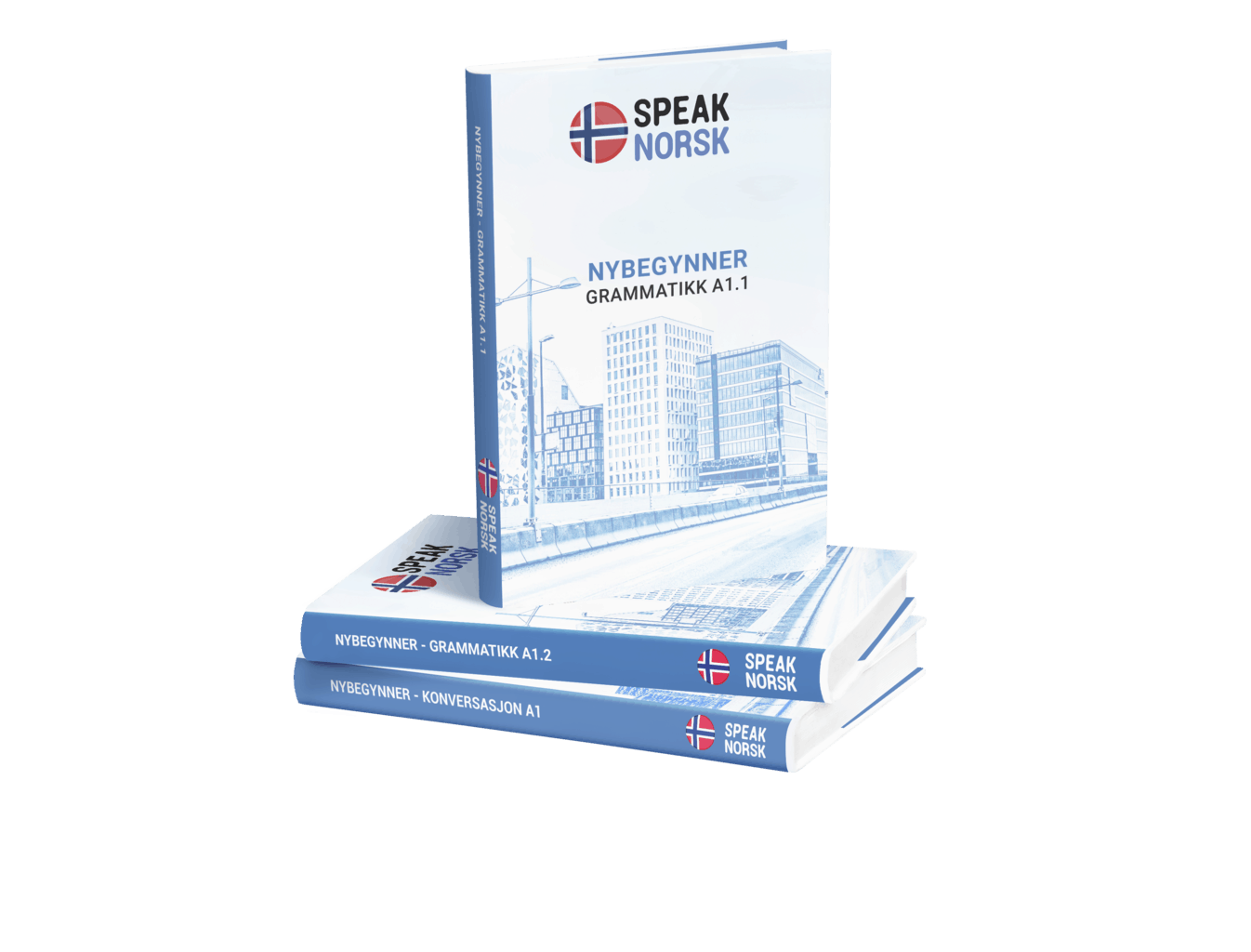 SpeakNorsk_booksA1_pile_flat fixed